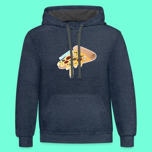 I LOVE PIZZA! - Contrast Hoodie