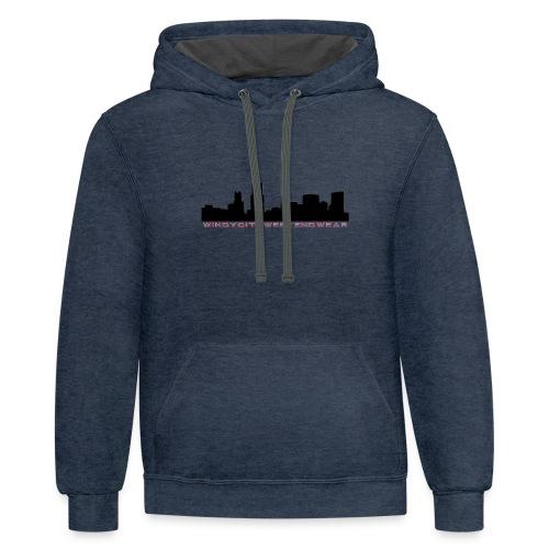 City Box Logo - Contrast Hoodie