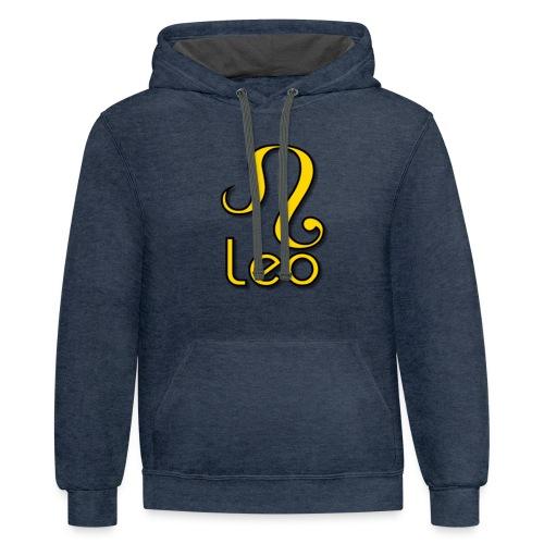 zodiac leo yellow - Contrast Hoodie