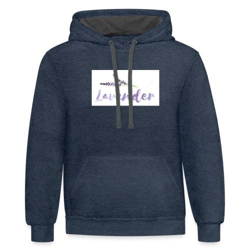 Lavender - Contrast Hoodie