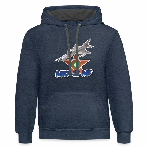 Bulgarian Air Force Mig-21 MF Jet Fighter - Contrast Hoodie