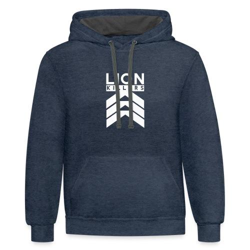 Lion Killers Front Logo - Dark Range - Contrast Hoodie