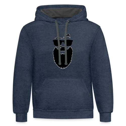 Men's shirt with scarves - Contrast Hoodie