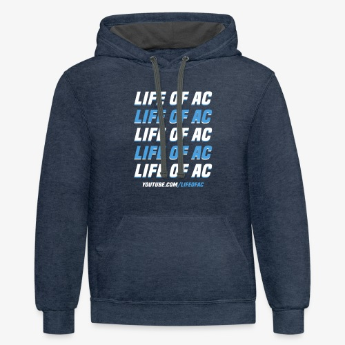 Double Vision   Life Of AC - Contrast Hoodie