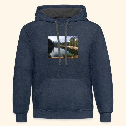 personal photo Shasta area - Contrast Hoodie