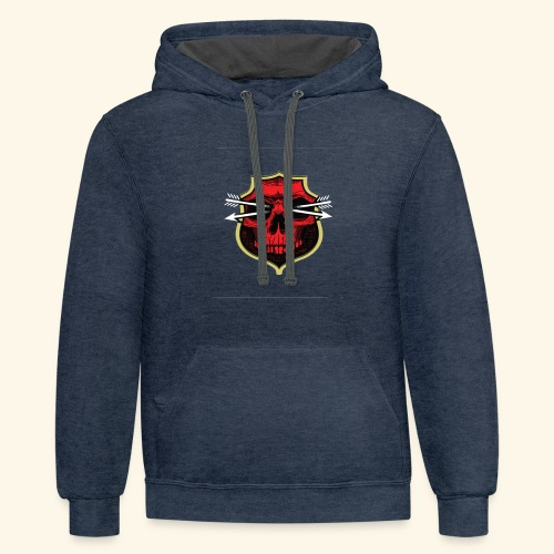 Design of red bone T-shirts - Contrast Hoodie