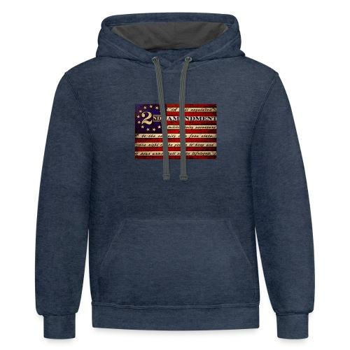 Second amendment flag - Contrast Hoodie