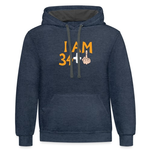 35th Birthday Gift Ideas Funny Born 35 Years Old - Contrast Hoodie