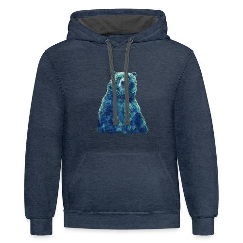blu bear - Contrast Hoodie