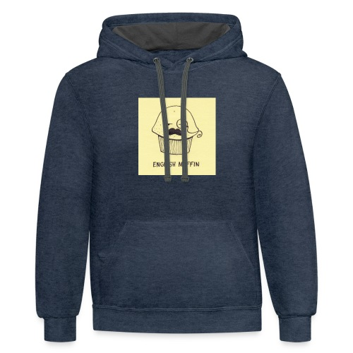english muffin merch - Contrast Hoodie
