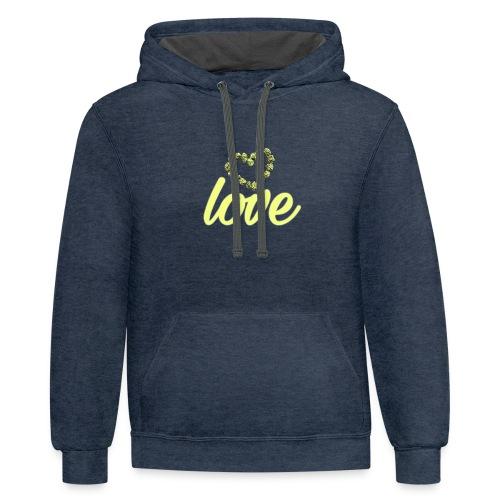 Love buds - Contrast Hoodie