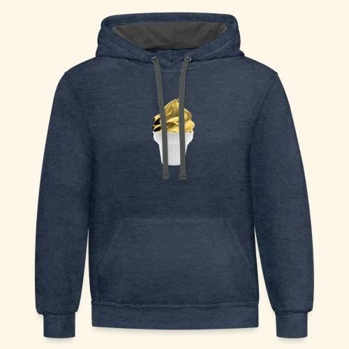 Design Golden gold - Contrast Hoodie