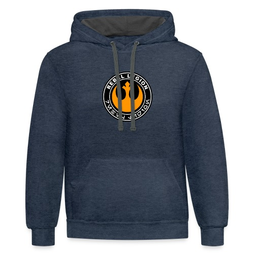 rebel legion logo - Contrast Hoodie