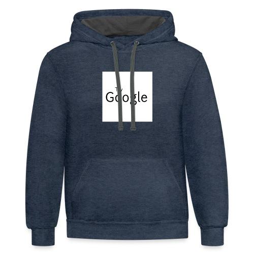 Try Google - Contrast Hoodie