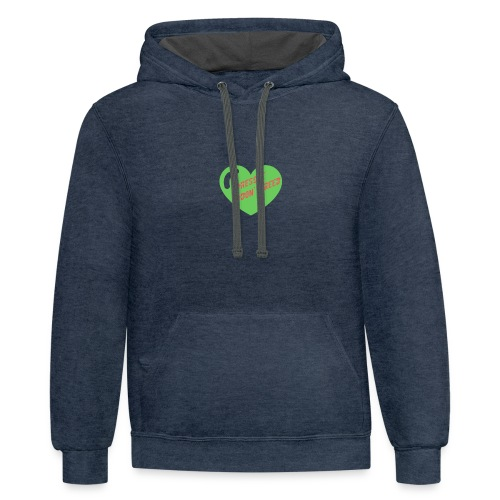 Rescue Don't Breed 2 - Contrast Hoodie