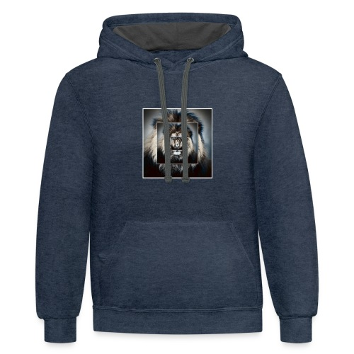 The king is the best - Contrast Hoodie