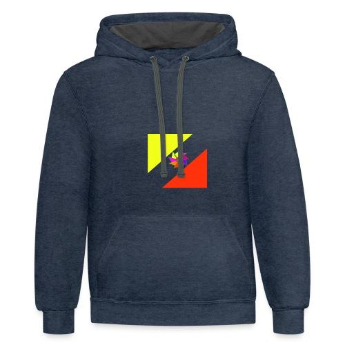 striking logo - Contrast Hoodie