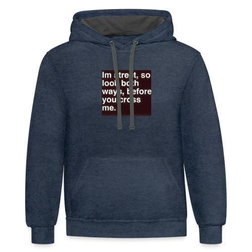 Gangsta shirts - Contrast Hoodie