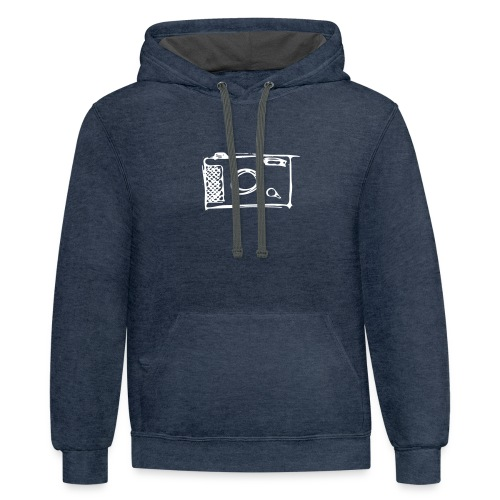 Camera hand-drawn - Contrast Hoodie