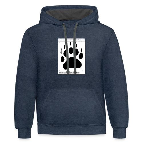 Bear print - Contrast Hoodie