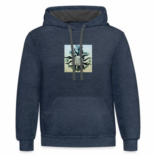 Sun and anchor - Contrast Hoodie