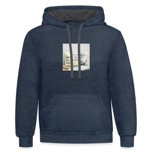 live laugh and love bag - Contrast Hoodie