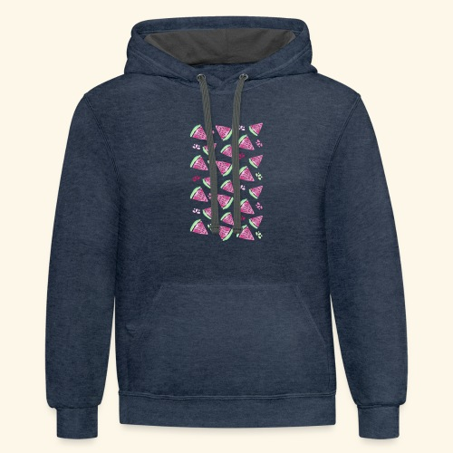 Watermelon Party! - Contrast Hoodie