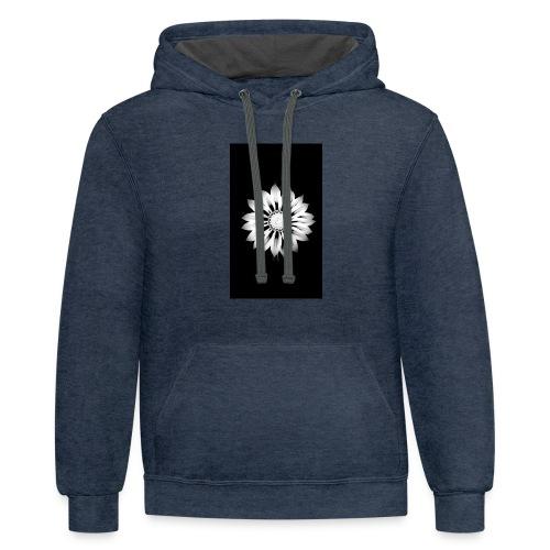 Floral Vibrance - Contrast Hoodie