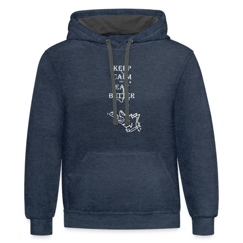 keep calm eat butter - Contrast Hoodie