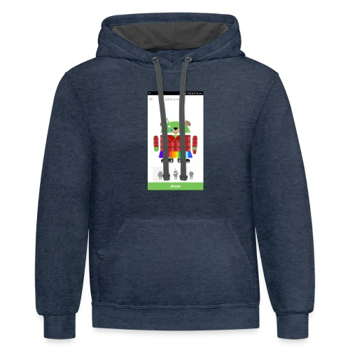 google cool - Contrast Hoodie