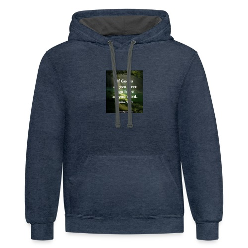 make you have a good day - Contrast Hoodie