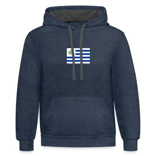 uruguay legalizacion marihuana - Contrast Hoodie