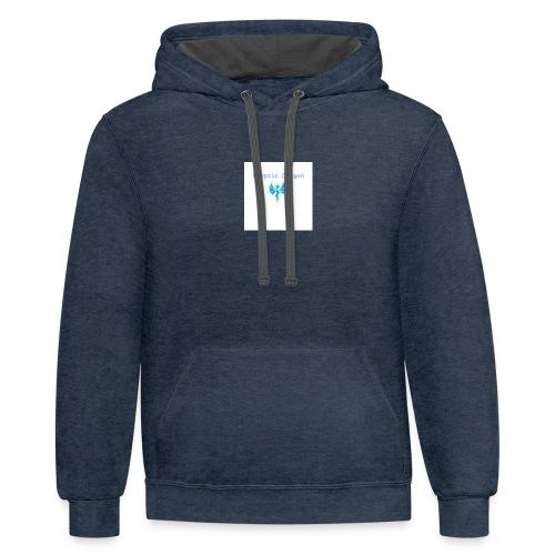 kryptic logo - Contrast Hoodie