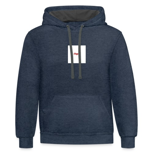 withe A - Contrast Hoodie
