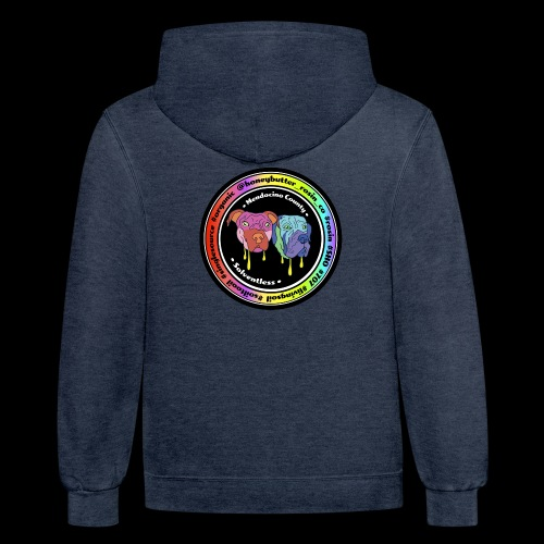 Multi Color Circle w/ OG Logo - Contrast Hoodie