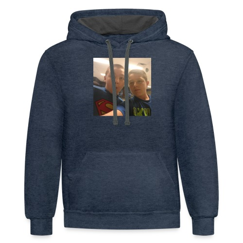 jacobs shirt/youtube partner - Contrast Hoodie