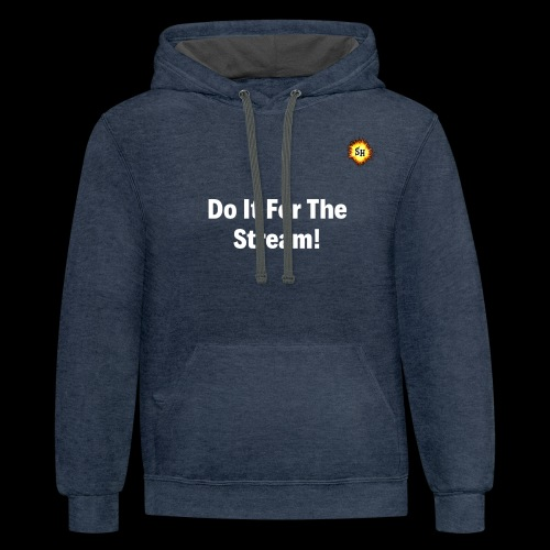 Do It For The Stream White With SH Logo - Contrast Hoodie