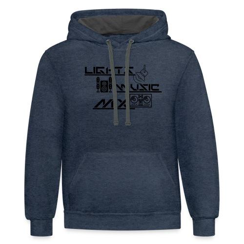 LMM (Black) - Contrast Hoodie