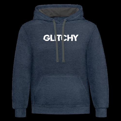 Glitchy - Contrast Hoodie