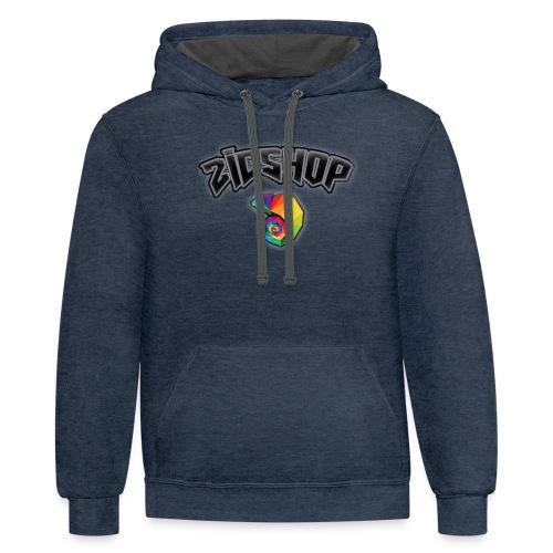 zic's shop logo - Contrast Hoodie