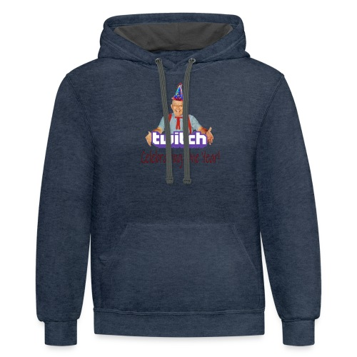 Celebrating One Year of Twitch! - Contrast Hoodie