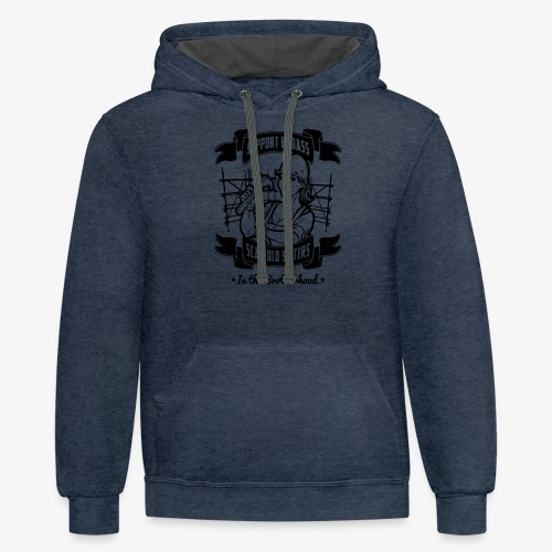 Support Badass Sisters - Contrast Hoodie