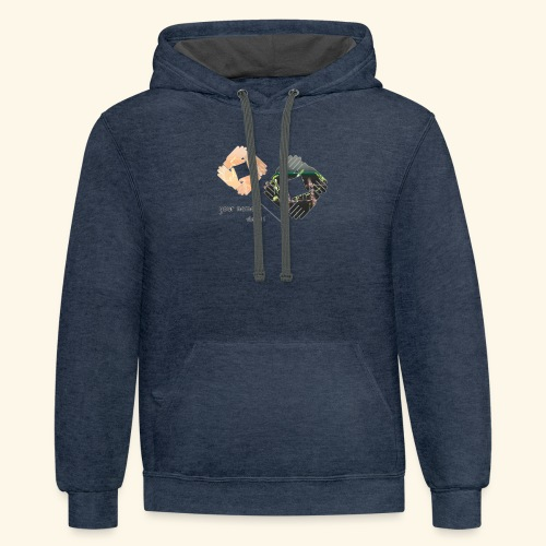 your name ! - Contrast Hoodie