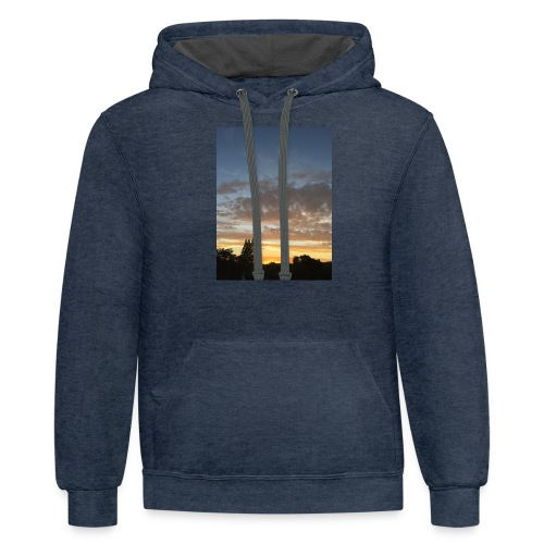 nuclear sunset - Contrast Hoodie