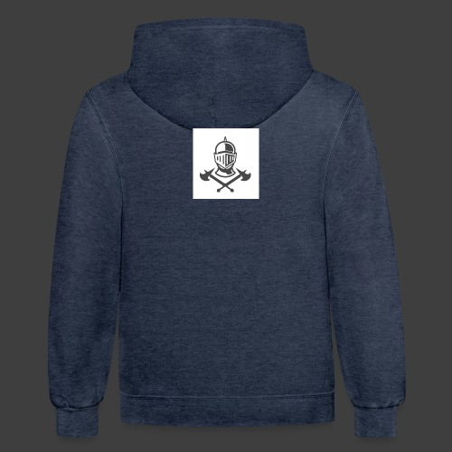 KNIGHT WITH AXES - Unisex Contrast Hoodie