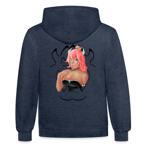Bowsette - Unisex Contrast Hoodie