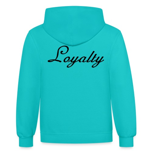Loyalty Brand Items - Black Color - Contrast Hoodie