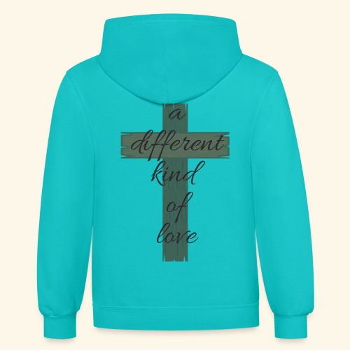 Different kind of love - Unisex Contrast Hoodie