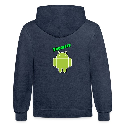Team Android - Unisex Contrast Hoodie
