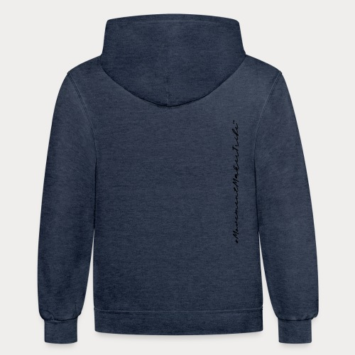 Movement Maker Tribe (side) - Unisex Contrast Hoodie